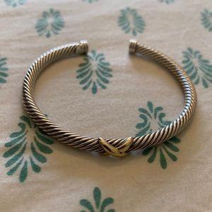 David Yurman X Gold Bracelet 4mm